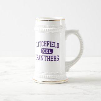 Litchfield - panteras - alto - Litchfield Illinois Jarra De Cerveza