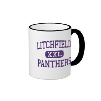 Litchfield - panteras - alto - Litchfield Illinois Taza A Dos Colores