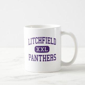 Litchfield - panteras - alto - Litchfield Illinois Taza Básica Blanca
