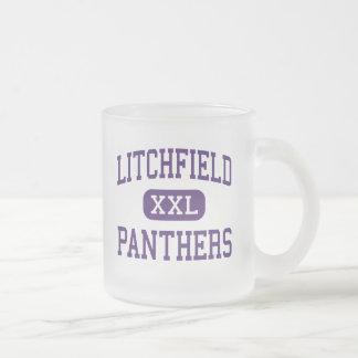 Litchfield - panteras - alto - Litchfield Illinois Taza Cristal Mate