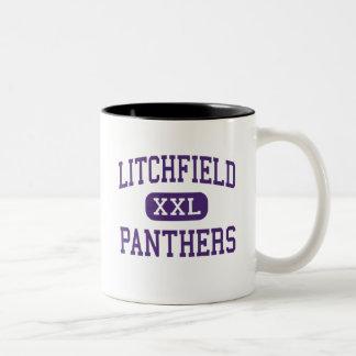 Litchfield - panteras - alto - Litchfield Illinois Taza Dos Tonos