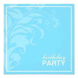 Lite Blue Birthday Party Invitations
