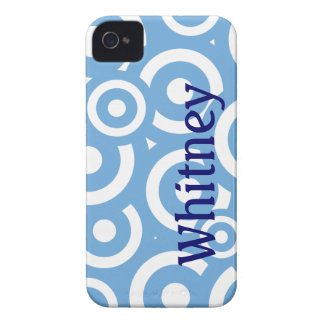 Lite Blue Circles patterm personalized iPhone 4/4s iPhone 4 Case-Mate Case