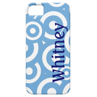 Lite Blue Circles patterm personalized iPhone 5 iPhone SE/5/5s Case