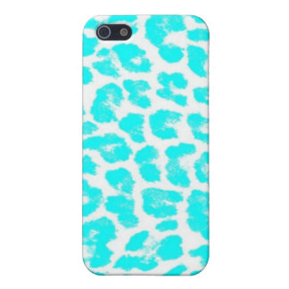 Lite Blue Leopard Print iPhone 5 Covers