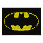 Lite-Brite Bat Emblem 5x7 Paper Invitation Card
