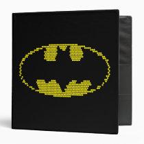 batman, dc comics, justice league, bat symbol, bat logo, batman logo, lite brite, light bright, batman chest logo, batman chest symbol, Binder with custom graphic design