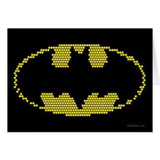 Lite-Brite Bat Emblem Greeting Card