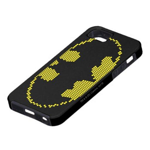 Lite-Brite Bat Emblem iPhone 5 Cases