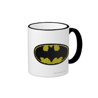 Lite-Brite Bat Emblem Ringer Coffee Mug