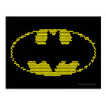 Lite-Brite Bat Emblem Postcard
