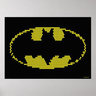 Lite-Brite Bat Emblem Poster