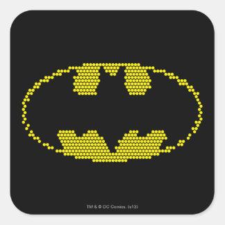 Lite-Brite Bat Emblem Square Sticker