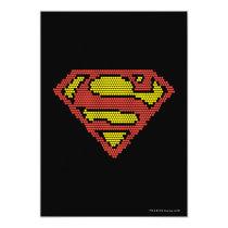 superman, superman s-shield, superman logo, superman symbol, lite brite, light bright, lite bright, super man logo, Invitation with custom graphic design
