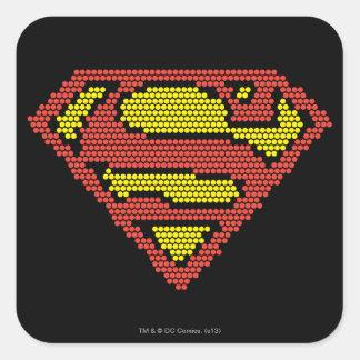 Lite-Brite S-Shield Square Sticker