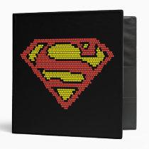 superman, dc comics, superman s-shield, superman logo, superman symbol, lite brite, light bright, lite bright, super man logo, Fichário com design gráfico personalizado