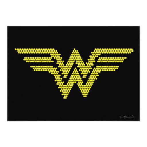 """Lite-Brite WW Symbol 5"""" X 7"""" Invitation Card"""