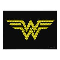 wonder woman, wonder woman logo, wonder woman symbol, lite brite, light bright, lite bright, wonder woman ww, ww symbol, ww logo, Invitation with custom graphic design