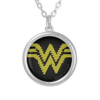 Lite-Brite WW Symbol Round Pendant Necklace