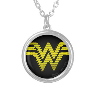 Lite-Brite WW Symbol Silver Plated Necklace
