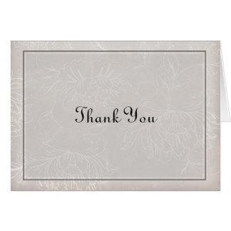Lite Gray Thank You Card