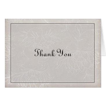 partridgelanestudio Lite Gray Thank You Card