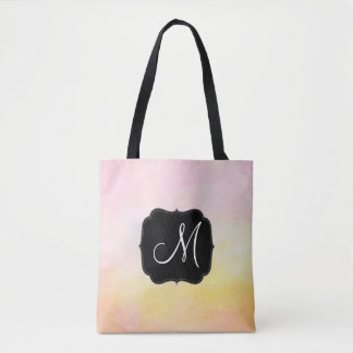 Lite Monogram Name All-Over-Print Tote Bag