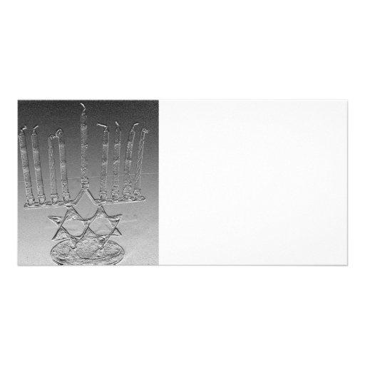 Lite the Chanukah candles Custom Photo Card