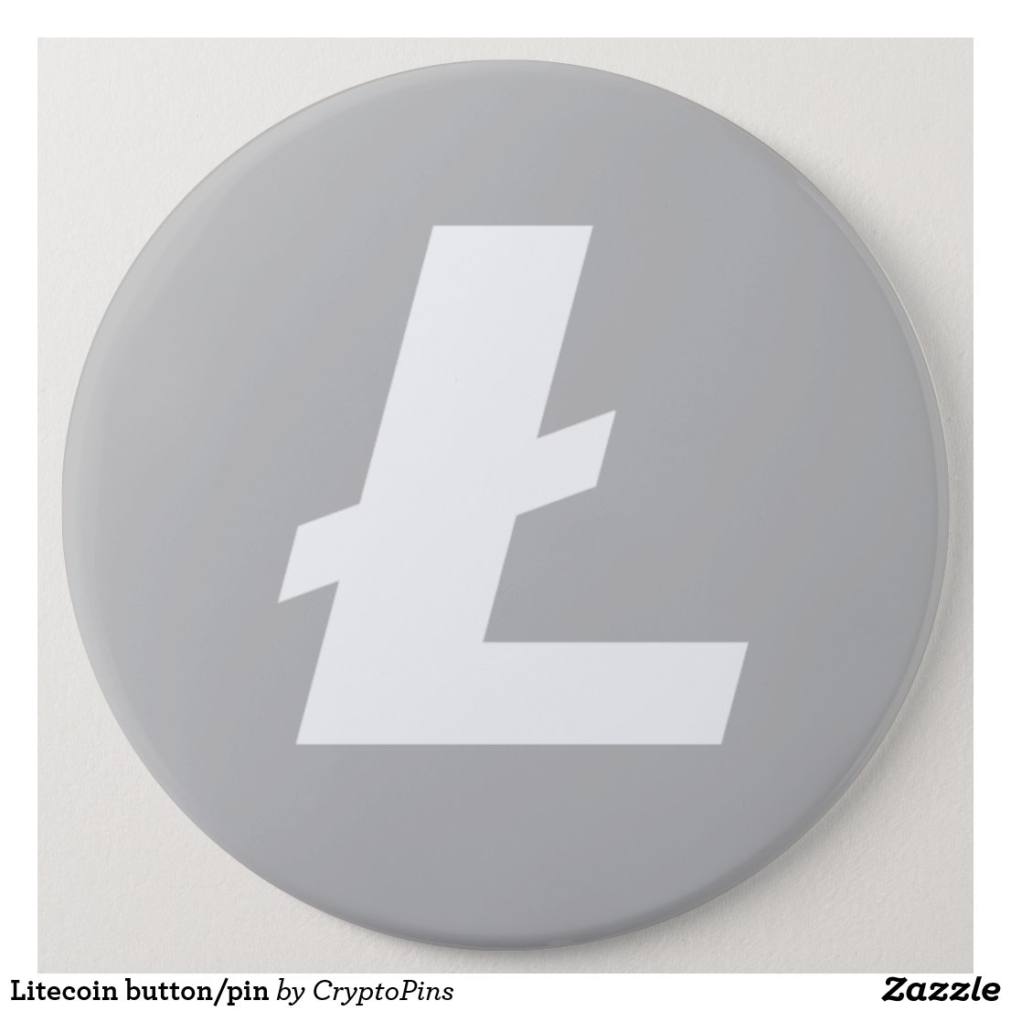 Litecoin button/pin pinback button