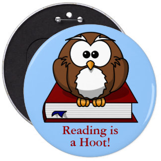 Literacy Awareness: Reading is a Hoot Button