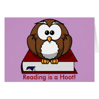 Literacy Awareness: Reading is a Hoot Card