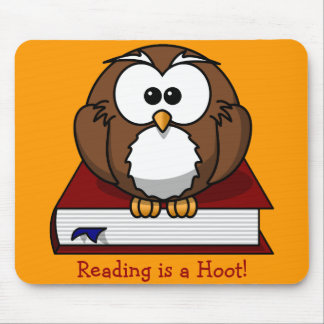Literacy Awareness: Reading is a Hoot Mouse Pad