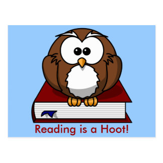 Literacy Awareness: Reading is a Hoot Postcard