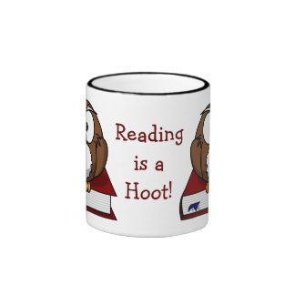 Literacy Awareness: Reading is a Hoot Ringer Mug