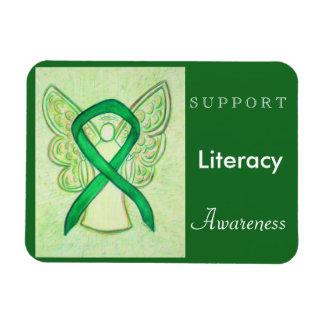 Literacy Awareness Ribbon Angel Custom Magnet Rectangular Photo Magnet