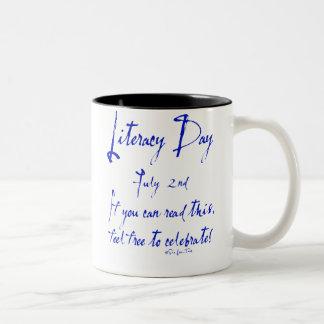 Literacy Day July 2nd Two-Tone Coffee Mug