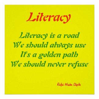 Literacy message poster