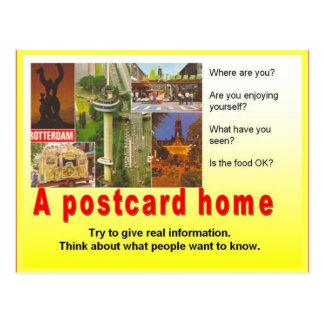 Literacy, travel writing, Write a postcard home