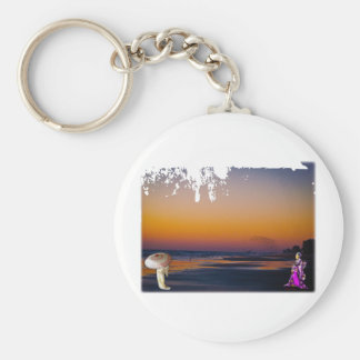 Literally a Flock of Seagulls at Dawn at the Shore Keychain