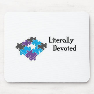 Literally Devoted Puzzle Mouse Pad
