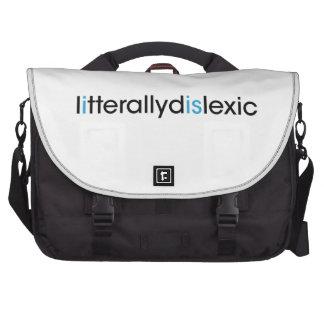 literally dyslexic laptop commuter bag