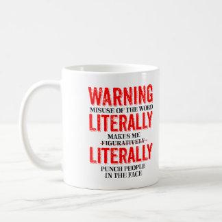 Literally Figuratively Grammar Mug Funny Gag Gifts