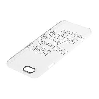 Literalmente caja del teléfono funda clear para iPhone 6/6S