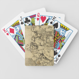 Literary Characters Assembled Around the Medallion Bicycle Playing Cards