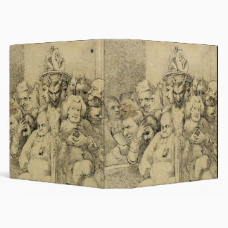 Literary Characters Assembled Around the Medallion Binder