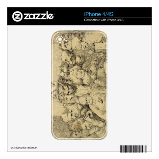 Literary Characters Assembled Around the Medallion iPhone 4S Skins