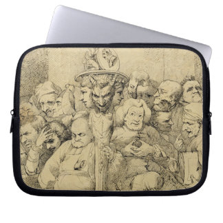 Literary Characters Assembled Around the Medallion Laptop Computer Sleeves
