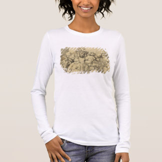 Literary Characters Assembled Around the Medallion Long Sleeve T-Shirt