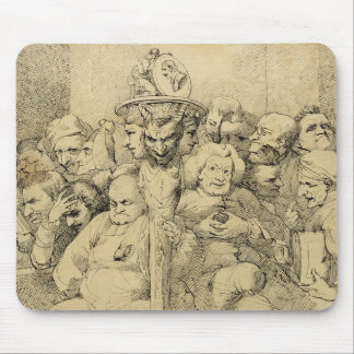 Literary Characters Assembled Around the Medallion Mouse Pad