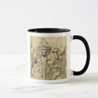 Literary Characters Assembled Around the Medallion Mug